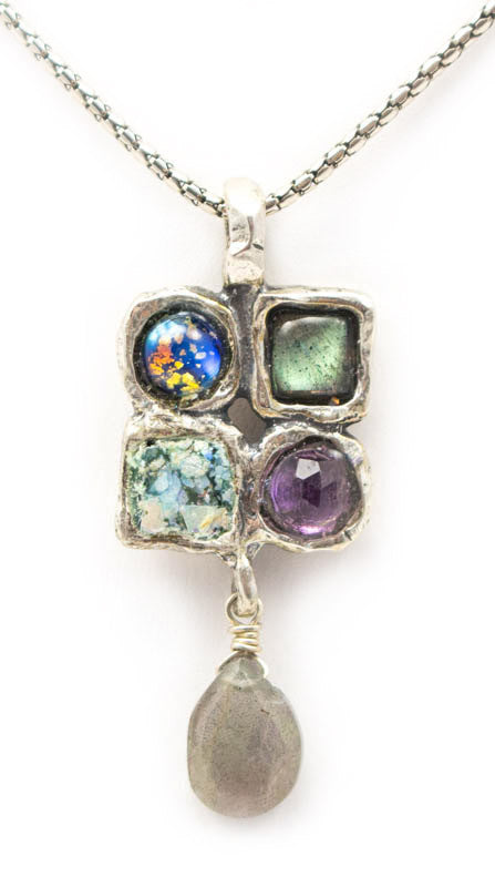 Tranquil Waters Roman Glass Necklace