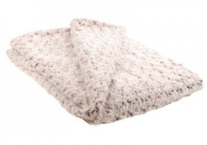 "Rosebud In Brown Luxury Faux Fur Throw 58""x45"""