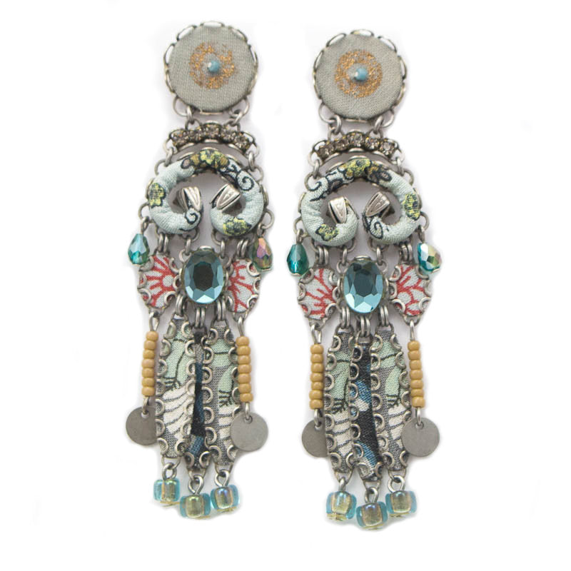 Blue Crystal Hip Collection Earrings by Ayala Bar