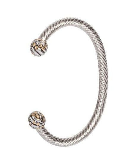 Canias Collection Medium Wire Cuff Bracelet by John Medeiros