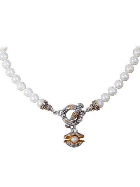 Ocean Images Collection Pearl in Shell String of Knotted Pearls Necklace by John Medeiros