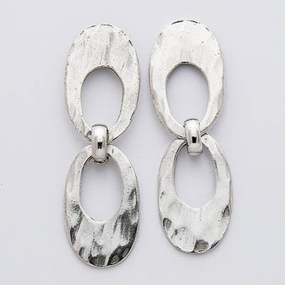 Open Oval Post Earrings