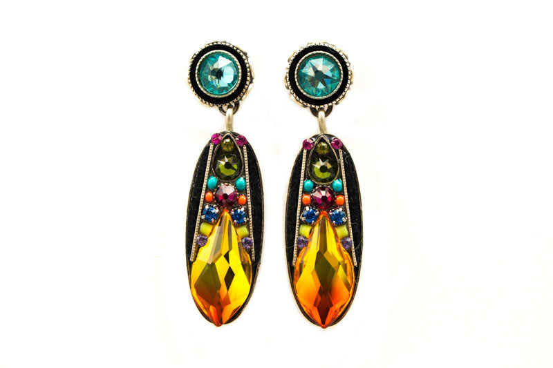 Multi Color Diva Large Post Earrings by Firefly Jewelry