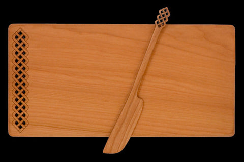 Cheese Board with Spreader with Celtic Design