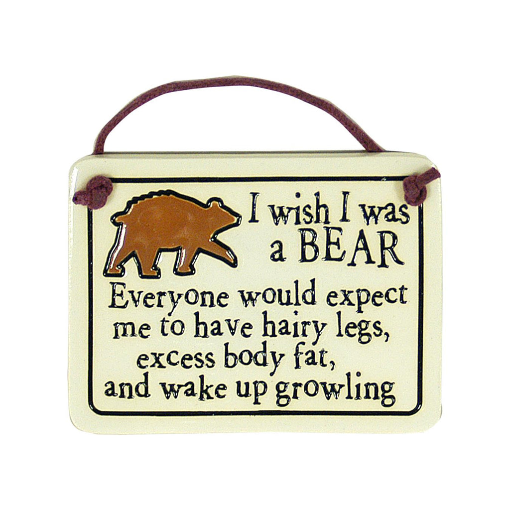 Wish I Was Bear Charmer Ceramic Tile