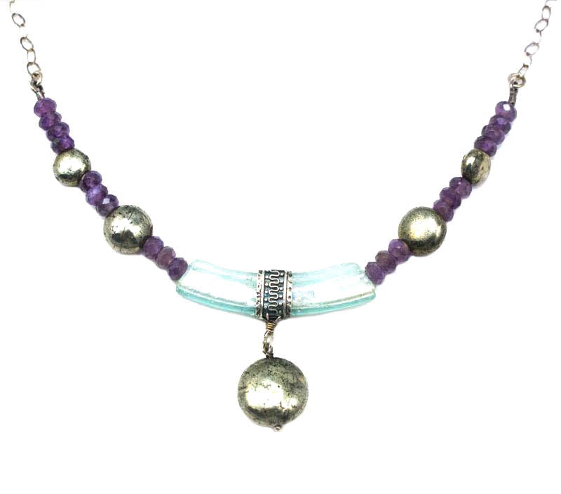 Beaded Roman Glass Necklace