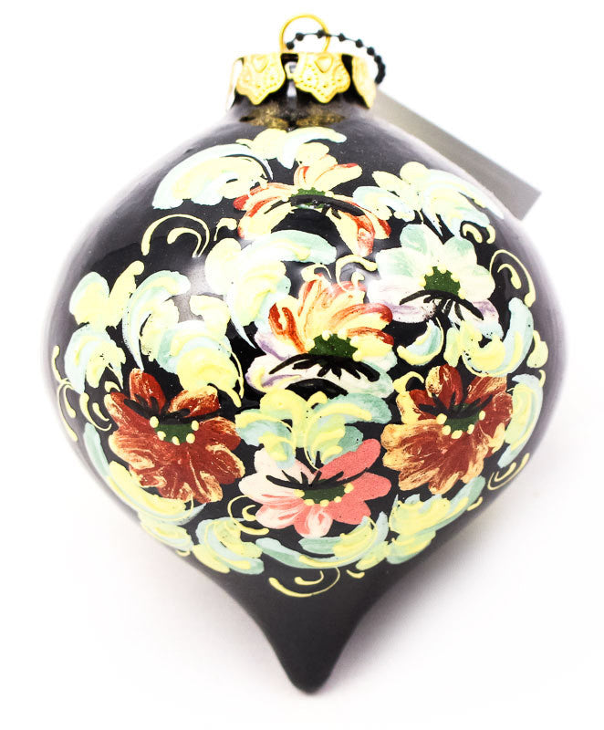 Wildflower Waltz Tear Drop Ceramic Ornament