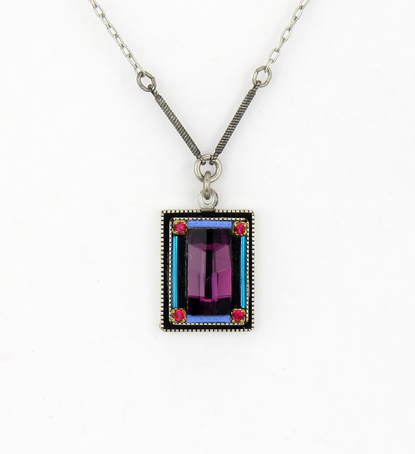Amethyst Emerald City Necklace by Firefly Jewelry