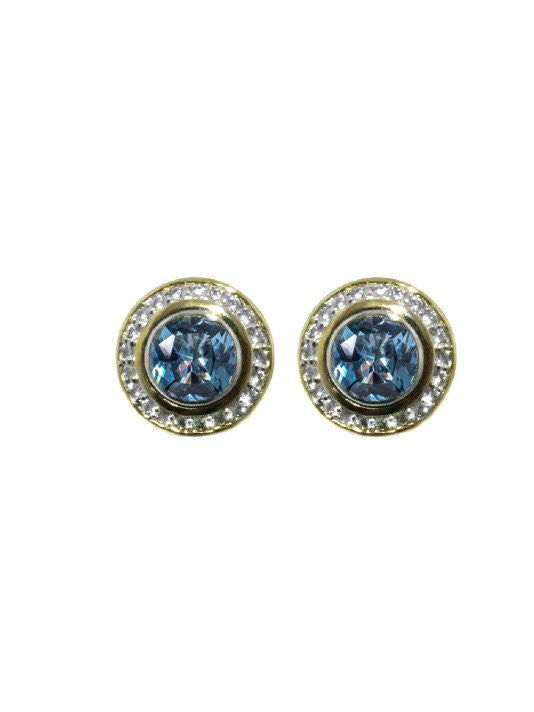Nouveau Pave Accented Round Post Clip Earrings by John Medeiros