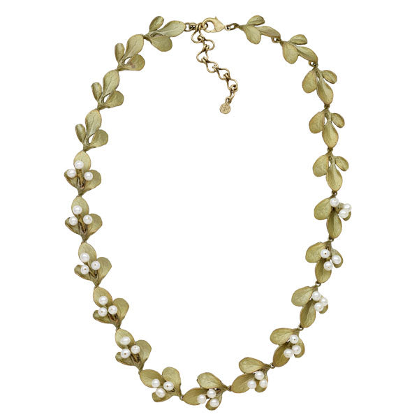 Barberry Leaf 16 inch Necklace by Michael Michaud
