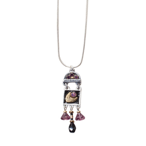 Gilt Trip B Necklace by JoLa Collage