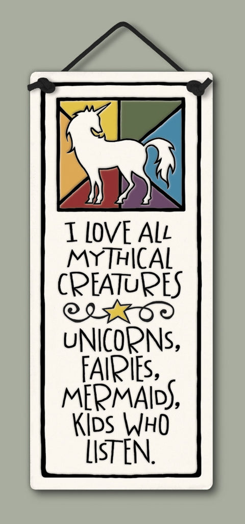 I Love All Mythical Creatures Small Tall Ceramic Tile