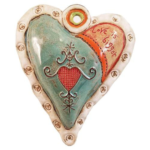 Hearts for Haiti with White Rim Ceramic Wall Art