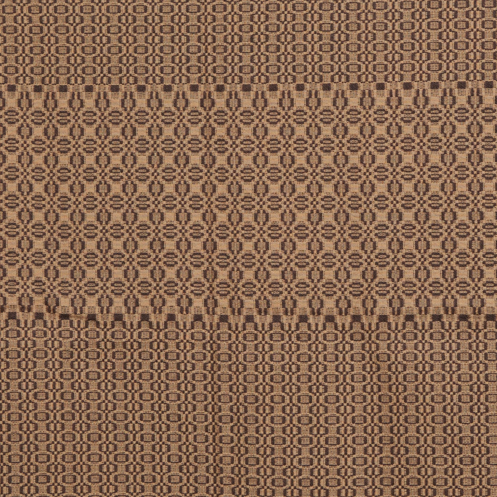 Pine Cone & Seed Table Square in Tan with Brown