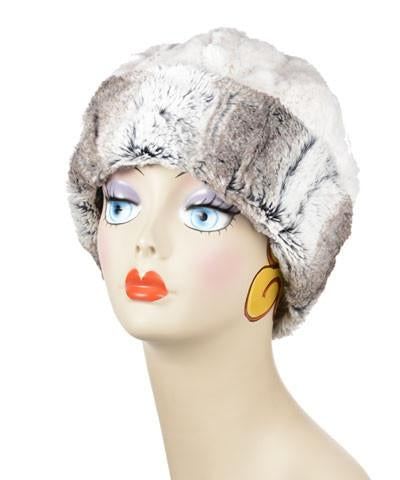 Birch with Cuddly Ivory Luxury Faux Fur Beanie Medium