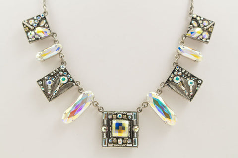 Aurora Borealis Luxe 9 Piece Necklace by Firefly Jewelry