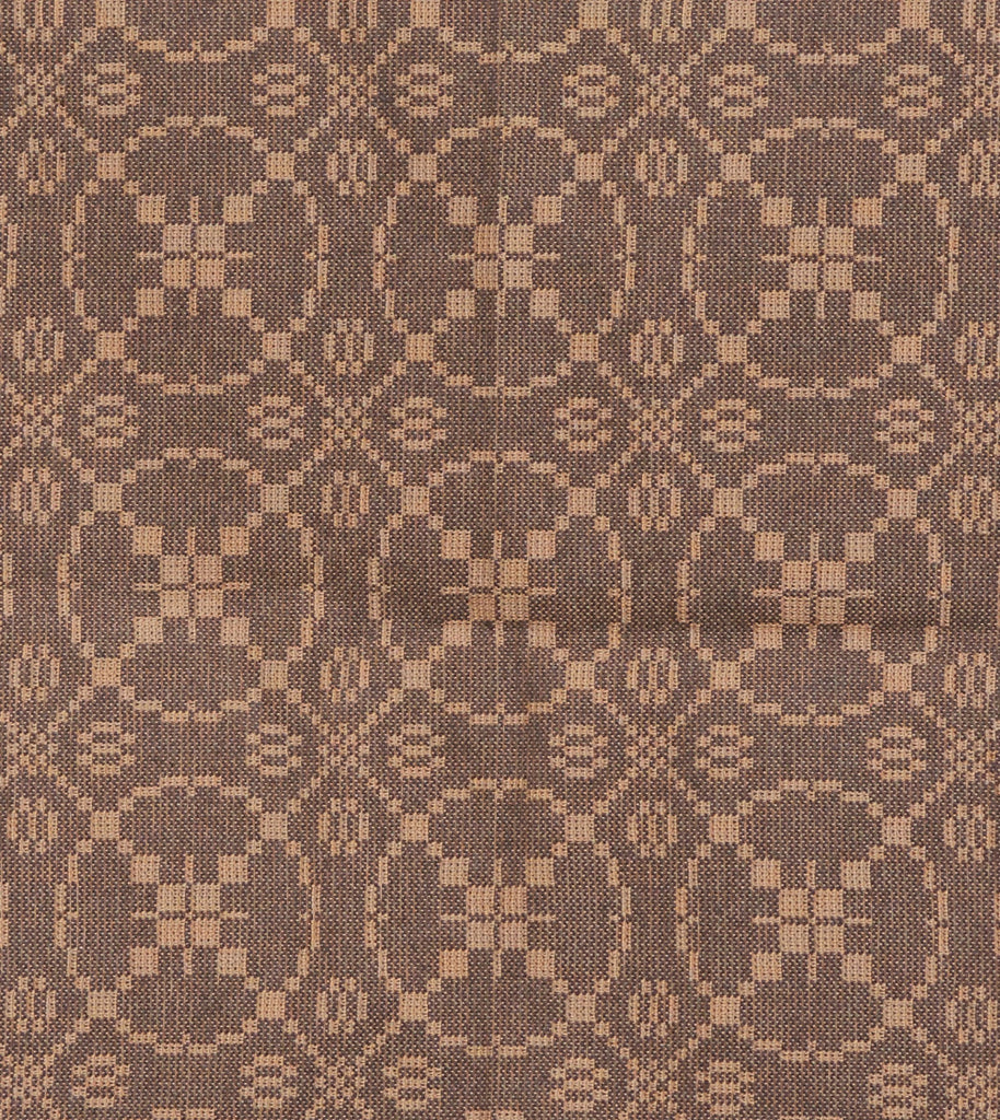 Curious Apprentice Short Table Runner in Brown with Tan