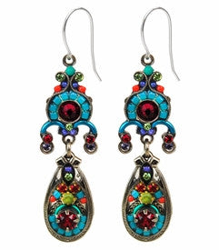 Multi Color Elaborate Chandelier Drop Earrings by Firefly Jewelry