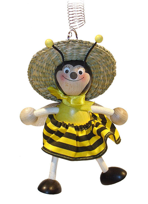 Bumblebee Girl Handcrafted Wooden Jumpie