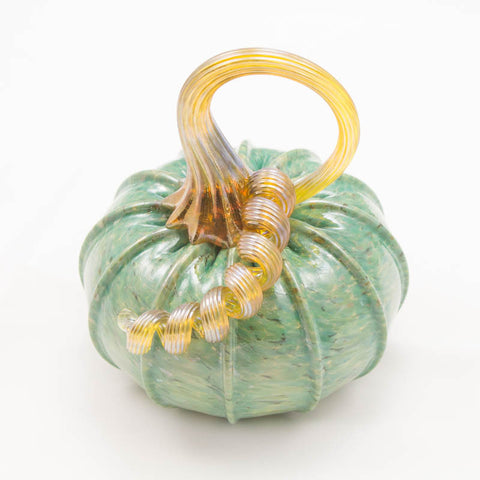 Handblown Glass Pumpkin in Turquoise