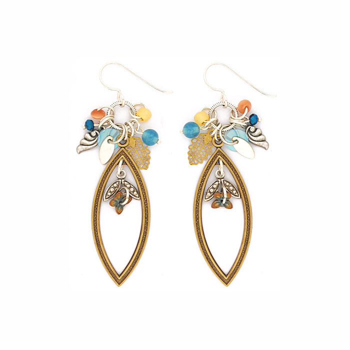 Blue and Gold I'm All Ears Earrings by Desert Heart