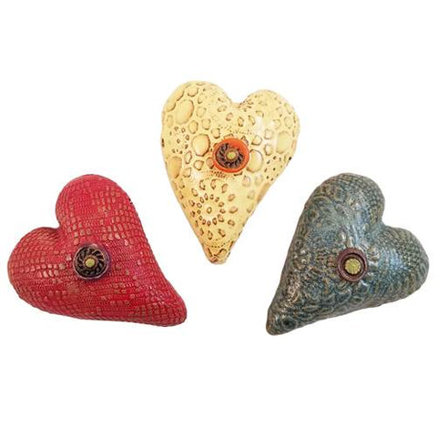 Itty Bitty Heart Ceramic Wall Art - Available in Multiple Colors