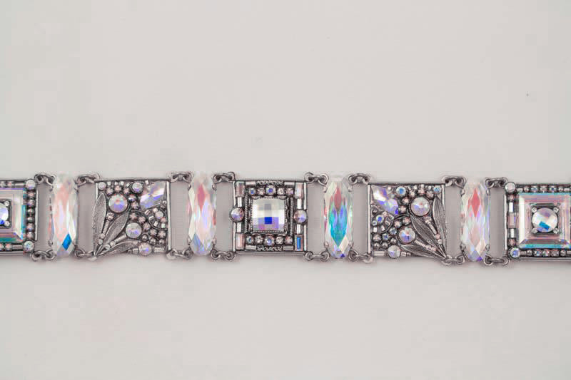 Aurora Borealis Luxe Intricate Mosaic Bracelet by Firefly Jewelry