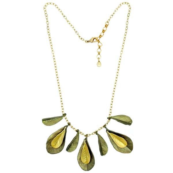 False Indigo Multi Leaf Necklace