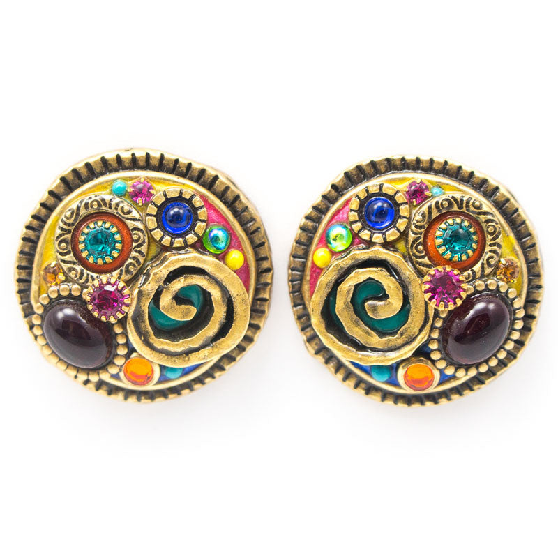 Confetti Round Earrings by Michal Golan