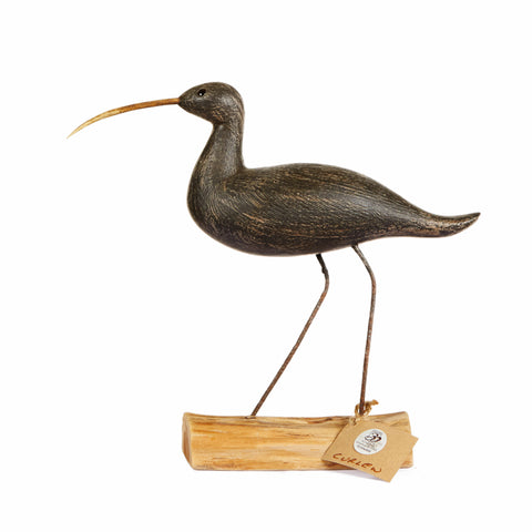 Hand Carved Long Neck Grey Curlew