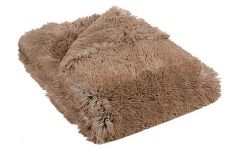 Red Fox Luxury Faux Fur Throw
