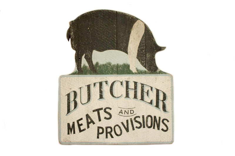Butcher, Meats and Provisions Americana Art