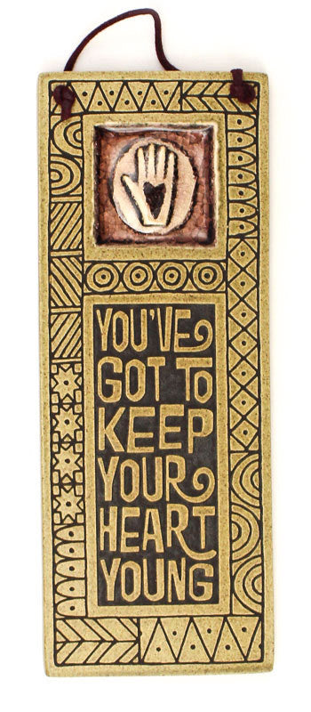 Keep your Heart Glass and Ceramic Tile