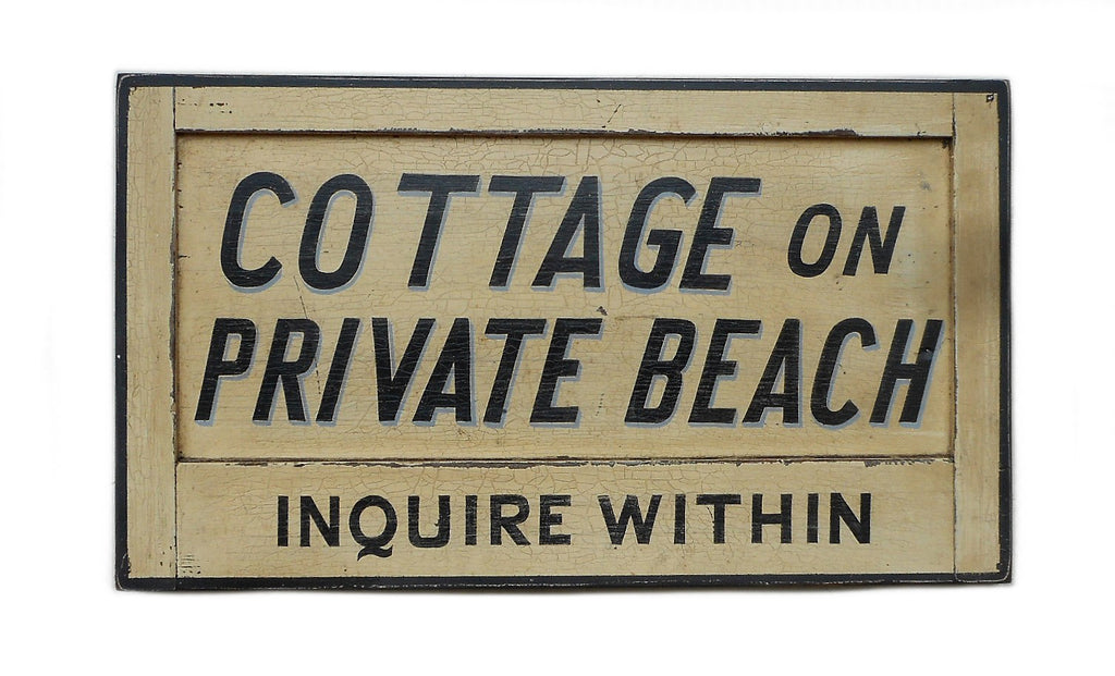 Cottage on Private Beach (B) Americana Art