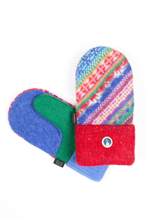 Wool Mittens in Bright