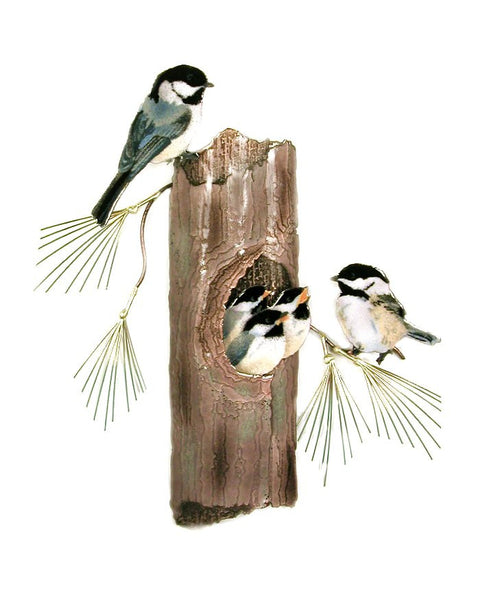 Chickadees Nesting Wall Art by Bovano Cheshire