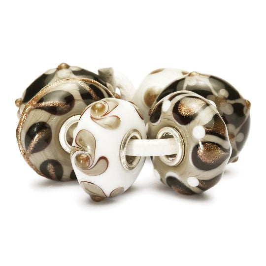 Christmas Decoration Beads-Black, Gold, Grey, White by Trollbeads