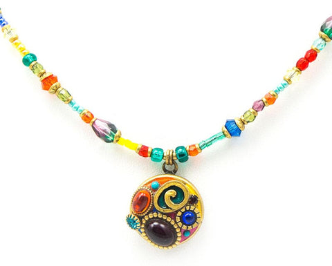 Confetti Small Round on Beads Necklace by Michal Golan