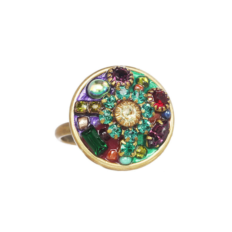 Multi Bright Circle Ring by Michal Golan