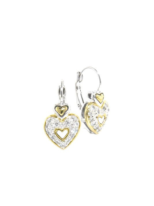 Heart French Wire Clip Earrings by John Medeiros