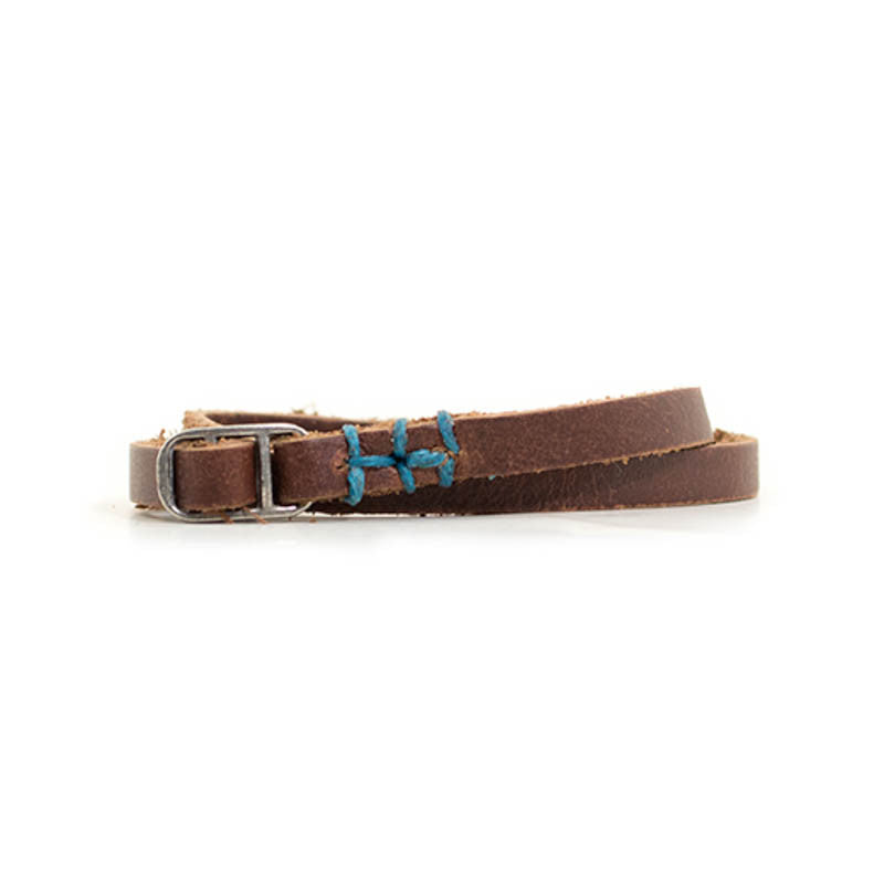 Leather Indie Bracelet with Blue Accent - Available in Multiple Colors