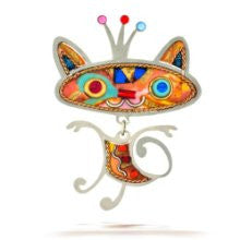 Kitty Cat with Crown Pin