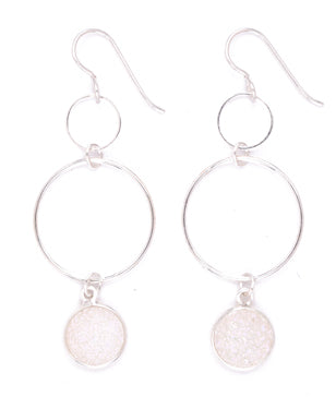 Simple Loop Druzy Earrings by Desert Heart