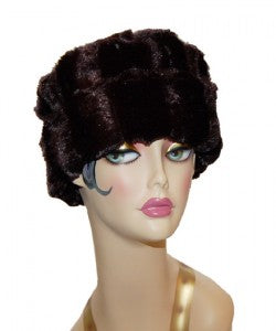 Minky Luxury Faux Fur Cuffed Pillbox Hat