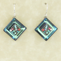 Erinite La Dolce Vita Crystal Diagonal Earrings by Firefly Jewelry