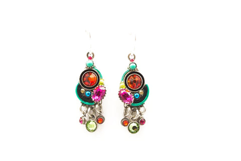 Multi Color Calypso with Drops Earrings by Firefly Jewelry