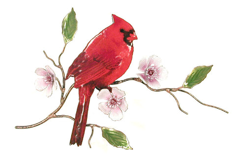 Cardinal on Cherry Blossom Wall Art by Bovano Cheshire