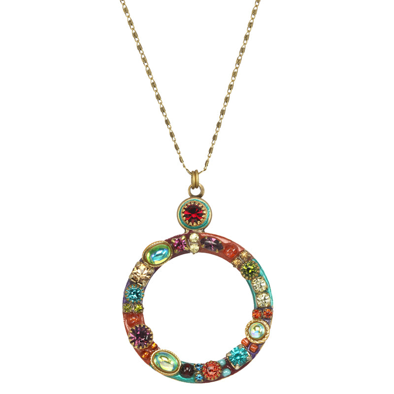 Multi Bright Open Circle Necklace