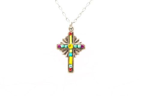 Sunflower Petite Cross Necklace by Firefly Jewelry