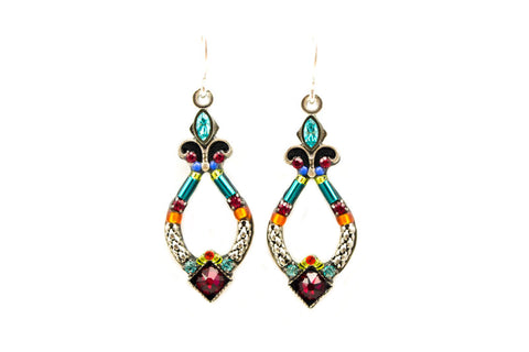 Multi Color Angels Harp Earrings by Firefly Jewelry